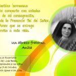 ¡¡UNÁMONOS A LA ALEGRÍA DE NUESTRA HERMANA ANITA!!