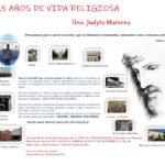 25 AÑOS DE VIDA RELIGIOSA DE LA HNA. JUDYTA